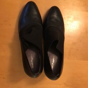Hush puppies black pumps mesh/leather top size 9.5